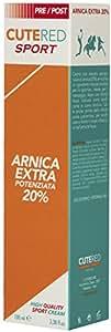 Cutered Sport Crema Arnica Extra Potenziata 20% 100ml • Defaticante Muscolare • Arnica, Olio Di Menta Piperita, Estratto Di Salice, Dimetilsolfone, Estratto Di Tè Verde