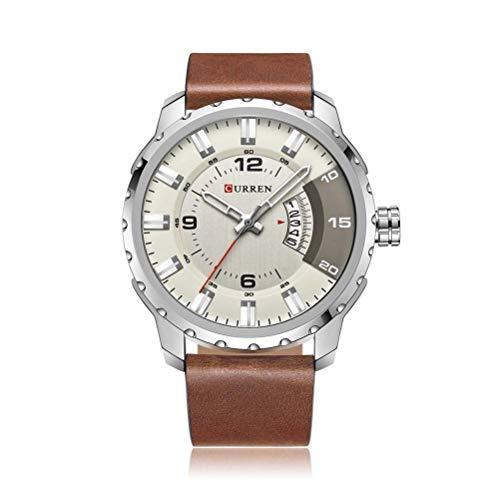 xisnhis schöne Uhren curren8245 große wählen männer Kalender gürtel Wasserdichte Uhr Quarz - Uhr