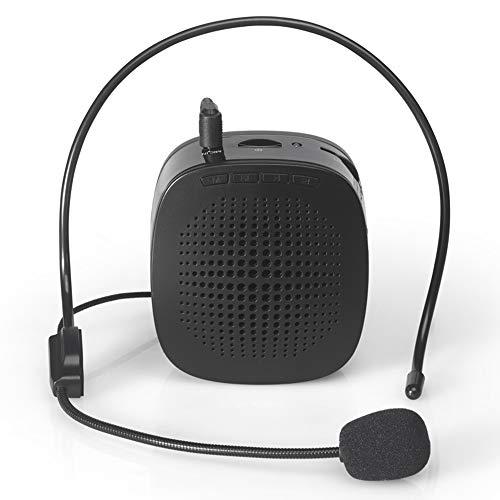 JAYLONG amplificatore vocale von mini altoparlante portatile e ricaricabile con microfono auricolare per Allenatori