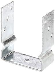 GAH-Alberts - Soporte en U para poste (sujeción con tornillos, galvanizado)