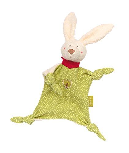 sigikid, Mädchen und Jungen, Schnuffeltuch Hase klein, Green Collection, Mehrfarbig, 41803