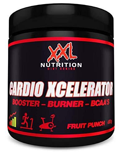 XXL Nutrition Cardio Xcelerator | Fatburner Booster Ausdauer | Fruit Punch 400g