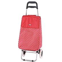 Sabichi–Juanita rojo & blanco lunares 2ruedas carrito de la compra
