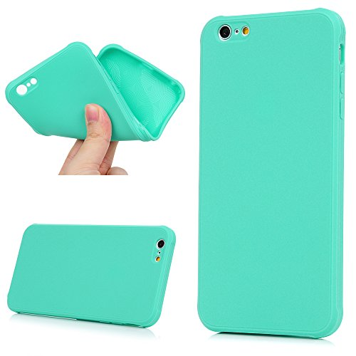 "iPhone 6 Plus /6S Plus Case Cover YOKIRIN Case für iPhone 6 Plus /6S Plus (5.5"") Hülle Silikonhülle Reine Verdickung Rutschfest Kratzfest Schutzhülle Slim Fit TPU Silikon Handytasche Handyhülle Etui P Mint grün"