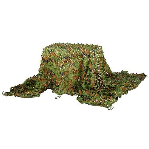ACZZ Tarpaulin Camouflage Net, Woodland Sonnenschutznetz UV-beständig verstärktes Tarnnetz Blind für die Jagd Camping Thema Party-Dekorationen,10 M × 10 M