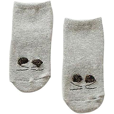 ESHOO Neonata Boy Cat Warm modello anti-slittamento dei calzini 0-4 anni