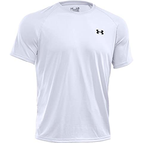 Under Armour Tech T-Shirt manches courtes Homme Blanc FR : M (Taille Fabricant : MD)
