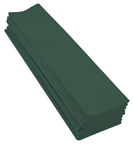 Clairefontaine 901074C Packung mit 10 Bögen Krepppapier, 2 x 0,5m, ideal für Schulaktivitäten, 1 Pack, flaschengrün