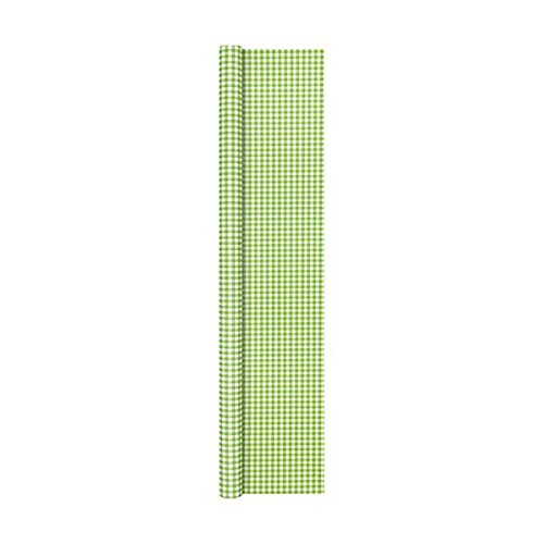 Papiertischdecke grün kariert 500x120cm Home Fashion