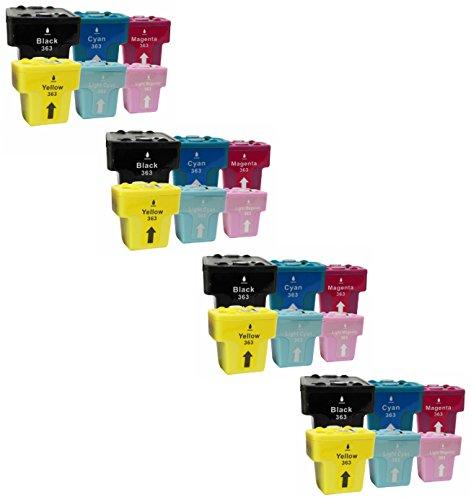 Prestige Cartridge 24 x HP 363 Cartucce d'Inchiostro Compatibile per Stampanti HP Photosmart Serie, Nero/Ciano/Magenta/Giallo/Ciano Chiaro/Magenta Chiaro