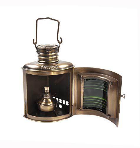 Nauticalia Steuerbord-Lampe, antik, 21 cm -