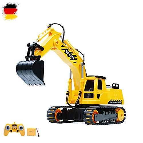 RC r/c ferngesteuerter RAUPENBAGGER Bagger Baustellenfahrzeug Schaufelbagger mit schwenkbarer Schaufel - Komplett Set inkl. wiederaufladbarem Akku!!