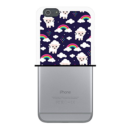 iPhone 6 Plus | 6S Plus Hülle, WoowCase Handyhülle Silikon für [ iPhone 6 Plus | 6S Plus ] Schafe und Regenbogen in den Wolken Handytasche Handy Cover Case Schutzhülle Flexible TPU - Transparent Housse Gel iPhone 6 Plus | 6S Plus Transparent D0180