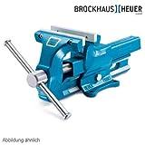 HEUER Parallel-Schraubstock 120 mm Wechselbacken blau