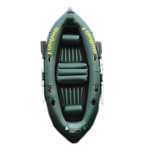 LJF Kajak-Schlauchboot Dickes Abriebfestes Fischerboot Schnelles Reise-Kanu, 4 Personen