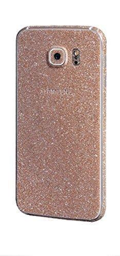 FINOO ®   Glitzer Sticker Bling Body Komplett Folie Vorder- und Rückseite Displayschutz für SAMSUNG GALAXY S7 Champagner