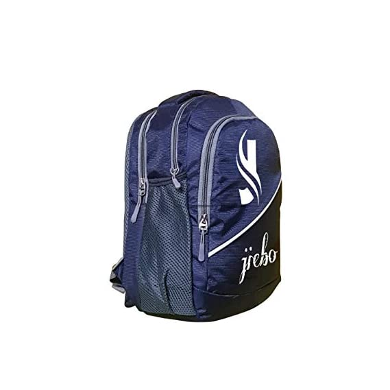 Jiebo Polyester 7L Nursery School Backpack with Quick Access Bottle Pocket and Bubble Weight for Children (4-6 yrs Old) Dimension - L26 x H36 x W15 cm (Dark Blue)