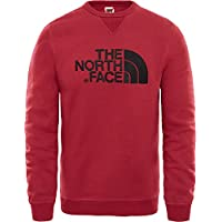 The North Face M Crew Jersey de Cuello Redondo Drew Peak, Hombre, Rumba Red, S