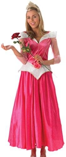 Faschingsfete Damen Karnevalskomplettkostüm romantische Prinzessin, L, Rosa-Pink