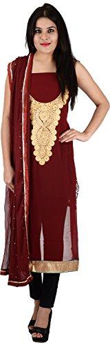Raj Nandini Suits & Sarees Women's Georgette Semi Stitched Salwar Suit Set(RajNandini13 _ P