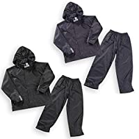 4 KIDZ Boys Kids Childrens Waterproof Jacket Coat Trousers Pants Set Hooded Tracksuit