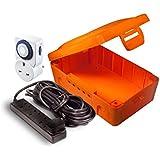 Masterplug IP54 Orange Weatherproof Electric Box with 4 Socket 8m Extension Lead and 24 Hour Timer by Masterplug
