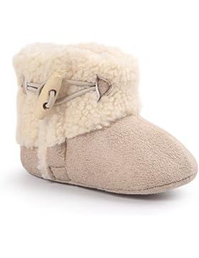 Butterme Winter Warm Baby Plüsch Schnee Stiefel Soft Sole Anti-Rutsch Prewalker Krippe Schuhe für Neugeborene...