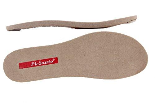 Komfort Damenlederschuh Piesanto 8852 keilsandalen herausnehmbaren einlegesohlen bequem breit Hielo