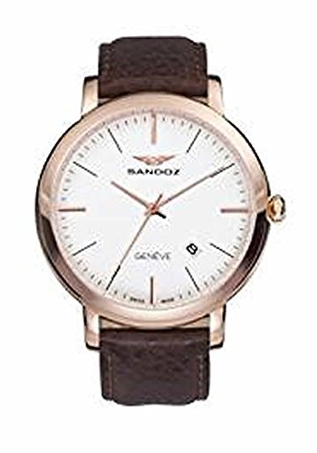 Watch Sandoz 8138787Swiss Made Men's IP Rosé