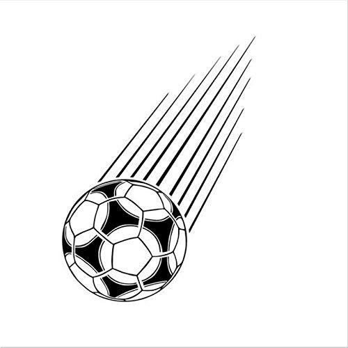 Sport Wohnkultur Fallen Fußball Wandaufkleber Vinyl Abnehmbare Aufkleber Dekoration Kunstwand Wandtattoos für Baby Room 31X44 Cm