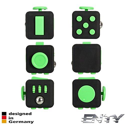 Preisvergleich Produktbild Enty Fidget Cube 2017 - Designed in Germany - Original (schwarz-grün)