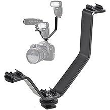 BlueBeach® Cámara Zapato caliente triple V Soporte de montaje para luces de vídeo Micrófonos o Monitores en cámaras DSLR y videocámaras
