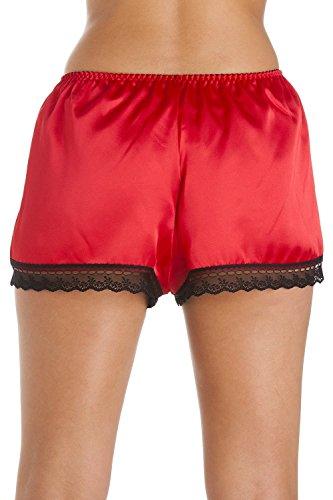 Hochwertige Nachtwäsche-Shorts - Satin - Rot Rot