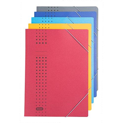 ELBA 400010115 Eckspanner chic 5er Pack A4 für ca. 150 DIN A4-Blätter mit Eckspannergummi aus 450 g/m² Karton (RC) sortierte Packung, 5 aus 7 Farben (Chic-computer-taschen)