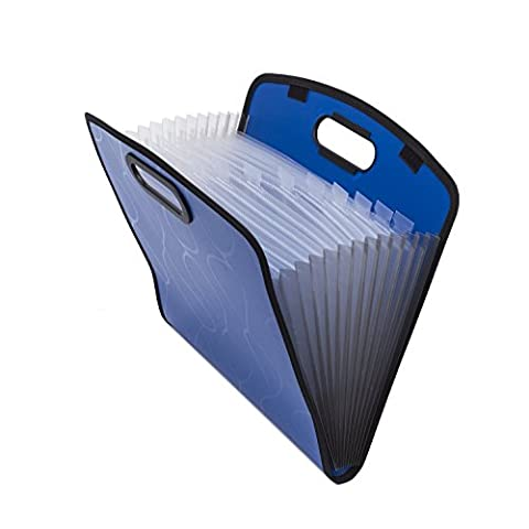 Expandable Portable Hand-Held Accordion File Document Folder File Organizer A4 and Letter Size 13 Pockets
