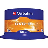 Verbatim 43548 4.7GB 16x DVD-R Matt Silber - 50 Pack Spindel