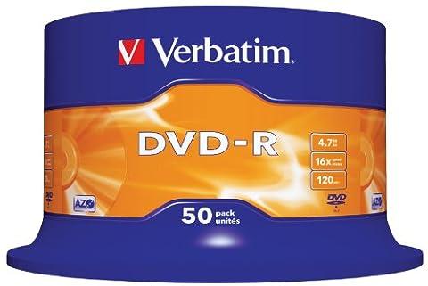 Verbatim DVD-R 16x Speed 4,7GB 50er Spindel DVD-Rohlinge