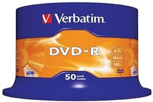 DVD-R 4.7GB 16X SUPLSCRATCH RESISTANT 50ER SPINDEL