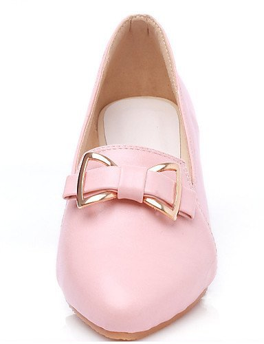 ShangYi gyht Scarpe Donna-Mocassini-Casual-Zeppe-Zeppa-Finta pelle-Blu / Rosa / Bianco Pink