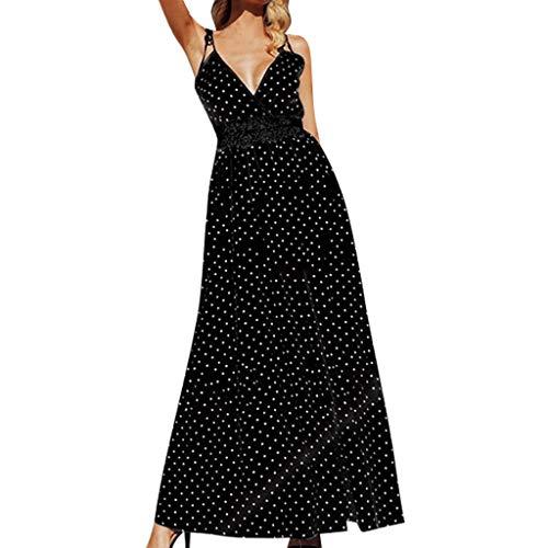 ode Gurt Polka Dot Lace Panel tiefem V-Ausschnitt Kleid Bluse Damen elegant Kurzarm weiß schwarz Sommer Spitze große größen ()