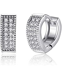 [Sponsored Products]Karatcart Platinum Plated Austrian Crystal Clip-On Earrings For Women