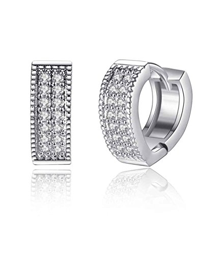Karatcart Platinum Plated Austrian Crystal Clip-On Earrings For Women