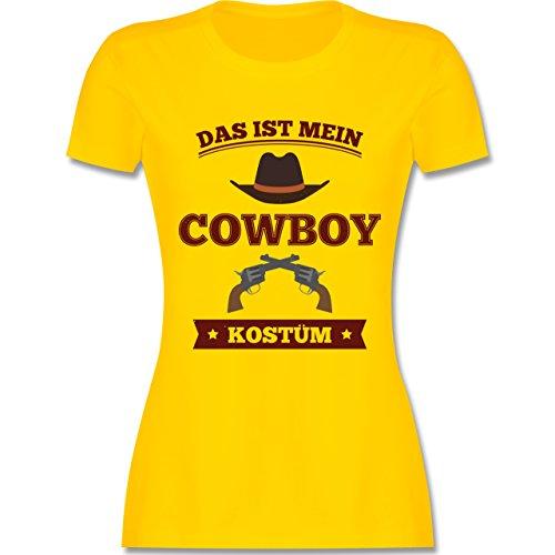 Shirtracer Karneval & Fasching - Das ist Mein Cowboy Kostüm - Damen T-Shirt Rundhals Gelb