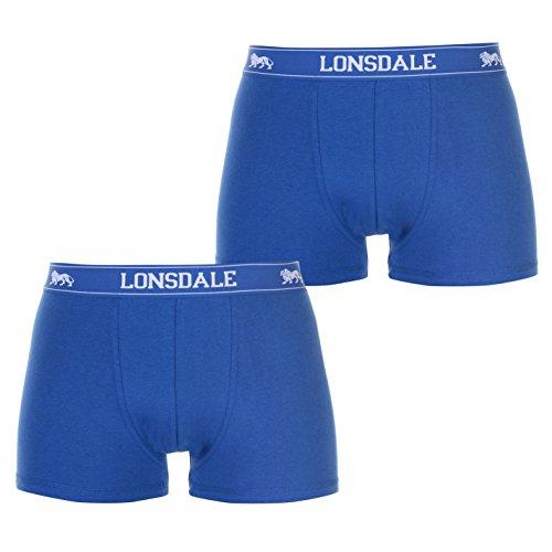 2 Stück Satin-bikini (Lonsdale Herren 2 Stück Trunks Unterhose Blau XL)
