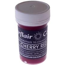 Sugarflair PASTEL pasta–Cherry rojo–nueva serie -