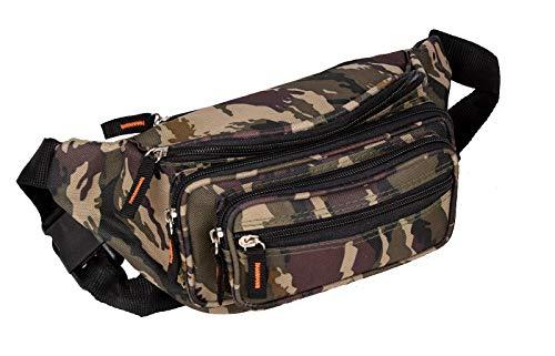 Sport Gürteltasche und Bauchtasche Outdoor Hüfttasche in Army Camouflage Muster 30x15 cm