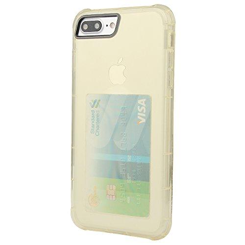 xhorizon [Ultra Hybrid] [Coussin d'air] Pare-chocs d'absorption des chocs et anti-rayures Clear Back ultra mince couverture protectrice transparente avec Slot de carte cachée pour iPhone 7 Plus #3