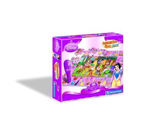 12368 - Clementoni E-Lektor Quiz - Interactive Quiz Puzzle Princess (Disney Princess Quiz)