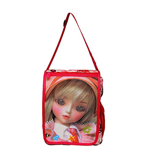 Roshiaaz Stylish Baby Girls Barbie Print Pink School Sling Bag  available at amazon for Rs.425