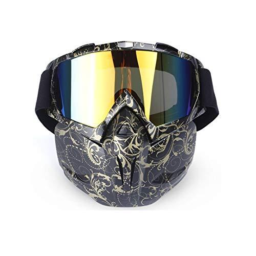 DOLOVE Motorrad Brille Herren Sportbrille Outdoor Schutzbrille Brillenträger Herren und Damen Bunt